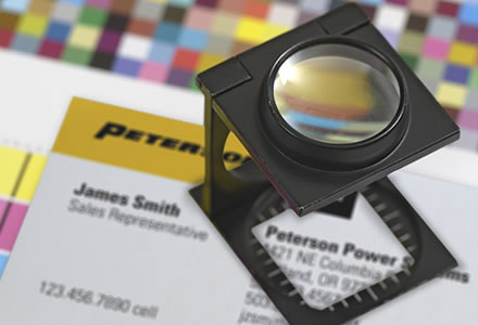 Peterson Power Systems business card