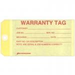 Yellow Warranty Tag